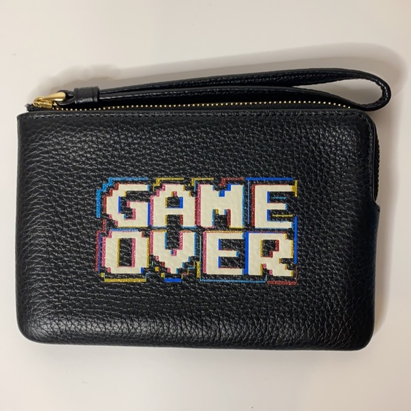 NWT Coach Limited Ed. Pac-Man Game Over Wristlet